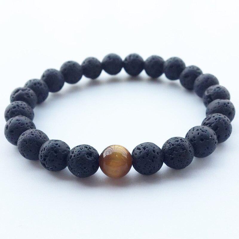 New Arrival Lava Stone Bracelets Men Strand Bracelets for Women Handmade Mens Jewelry Charm Braslet Woman Jewelry Gifts