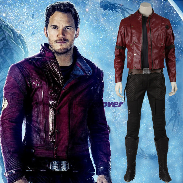 Guardians Of The Galaxy Cosplay Costume Peter Quill Star