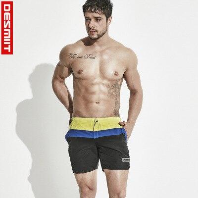 2018 brand Desmiit Swimwear Men Beach Shorts Surf Shorts For Men Swimwear quick dry Beachwear Swim trunks Plus Size board shorts