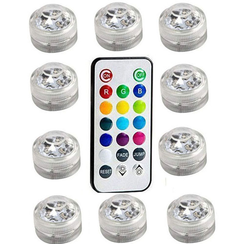 2set Rgb Led Waterproof Pool Light Multi-color Underwater Light Swiming Pool Lamp With Remote Controller For Wedding Celebration Led Underwater Lights