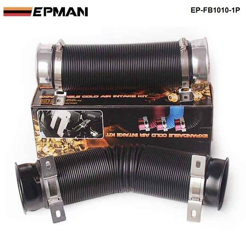 Синий Универсальный 76 мм воздухозаборник индукционный комплект гибкий холодный канал подачи трубы 100 см для VW Golf MK6 GTi 2,0 EP-FB1010-1P