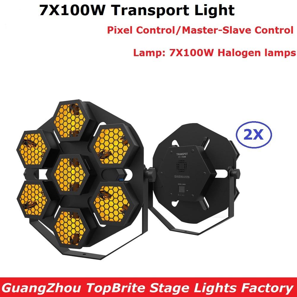 2Pcs/Lot Dj Lighting Stage Retro Flash Lights 7X100W P-hili-p-s Halogen Lamp Transport Lights DMX Strobe Lights Free Shipping free shipping 2pcs lot mt1389vdu qdtl cb mt1389vdu lqfp128 laptop p new original