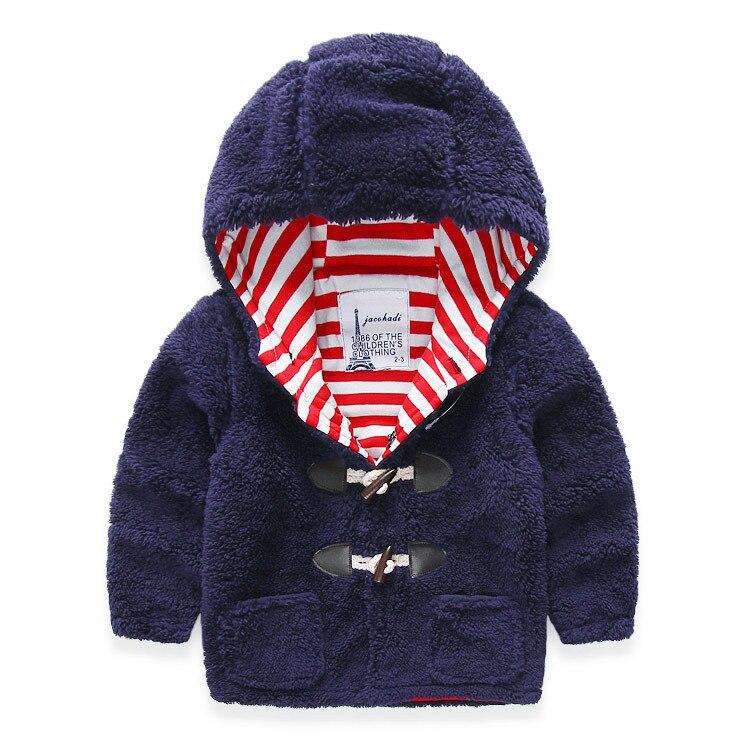 2016 Повседневное для маленьких мальчиков Обувь для девочек Теплый жакет детская верхняя одежда с капюшоном детские толстые наряды для осень...