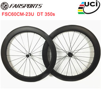 No outer spoke holes , Farsports 2017 700C carbon CLINCHER wheels 50mm x 23mm tubeless ready , DT 350s hubs 9mm / 130mm