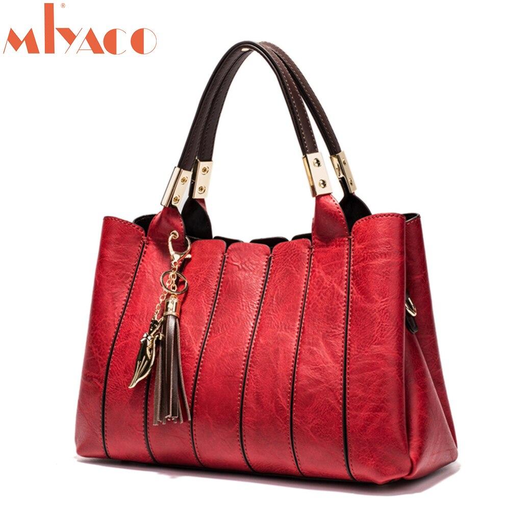 MIYACO Vintage femmes sac à main de luxe femme sac à bandoulière Messenger sac fourre-tout haut en cuir sacs à main avec gland renard sac à main
