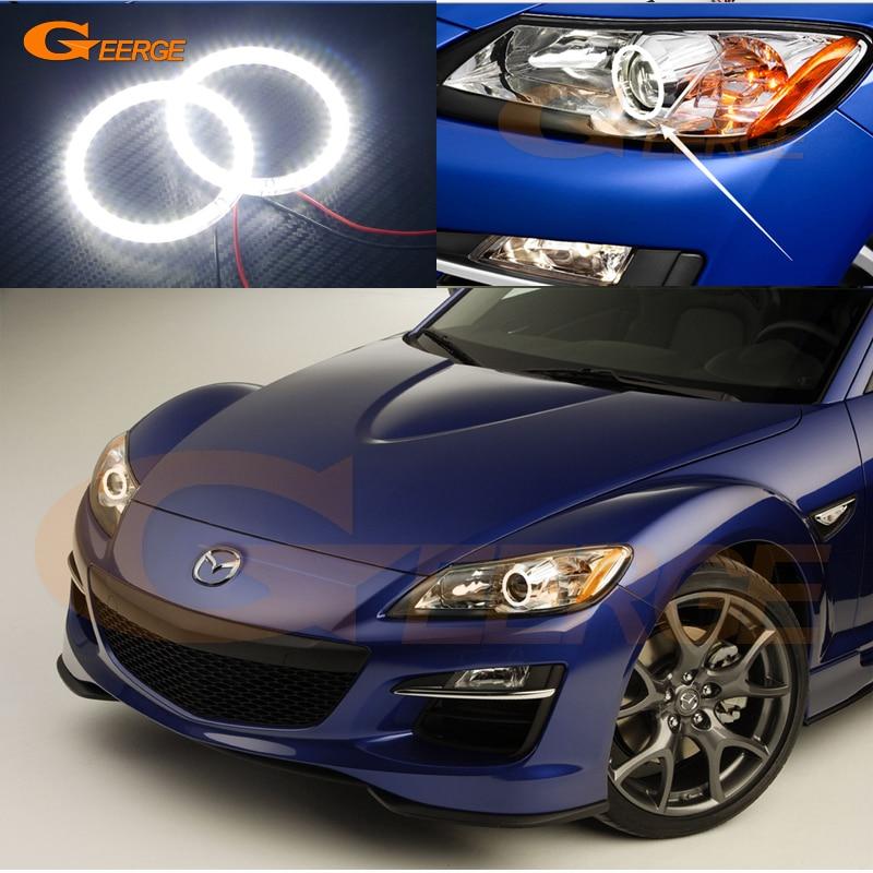 For Mazda RX-8 R3 2009 2010 2011 2012 Excellent led Angel Eyes Ultra bright illumination smd led Angel Eyes Halo Ring kit