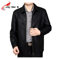 Plus size 3xl sheepskin leather jacket spring and autumn male outerwear turn down collar business casual.jpg 200x200