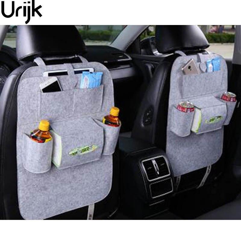 Urijk Car Back Seat Storage Organizer Trash Net Holder Multi-Pockets Travel Storage Bag Hanger for Auto Capacity Storage Pouch