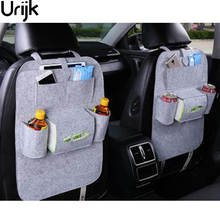 Urijk Car Back Seat Storage Organizer Trash Net Holder Multi-Pockets Travel Storage Bag Hanger for Auto Capacity Storage Pouch