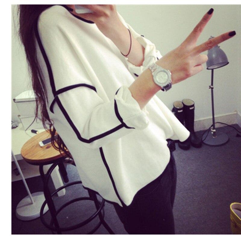 new Spring New Trends All-match women Sweatshirt hoodies Geometry Design Loose to Long Sleeve Sweatshirt Women Hoody Plus Size