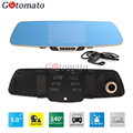 Gotomato 5.0'' Dual Camera Car Dvr Camera Rearview Mirror Dash Cam Dual Lens G-Sensor 1080P 140 Degree 2 Camera Video Recorder