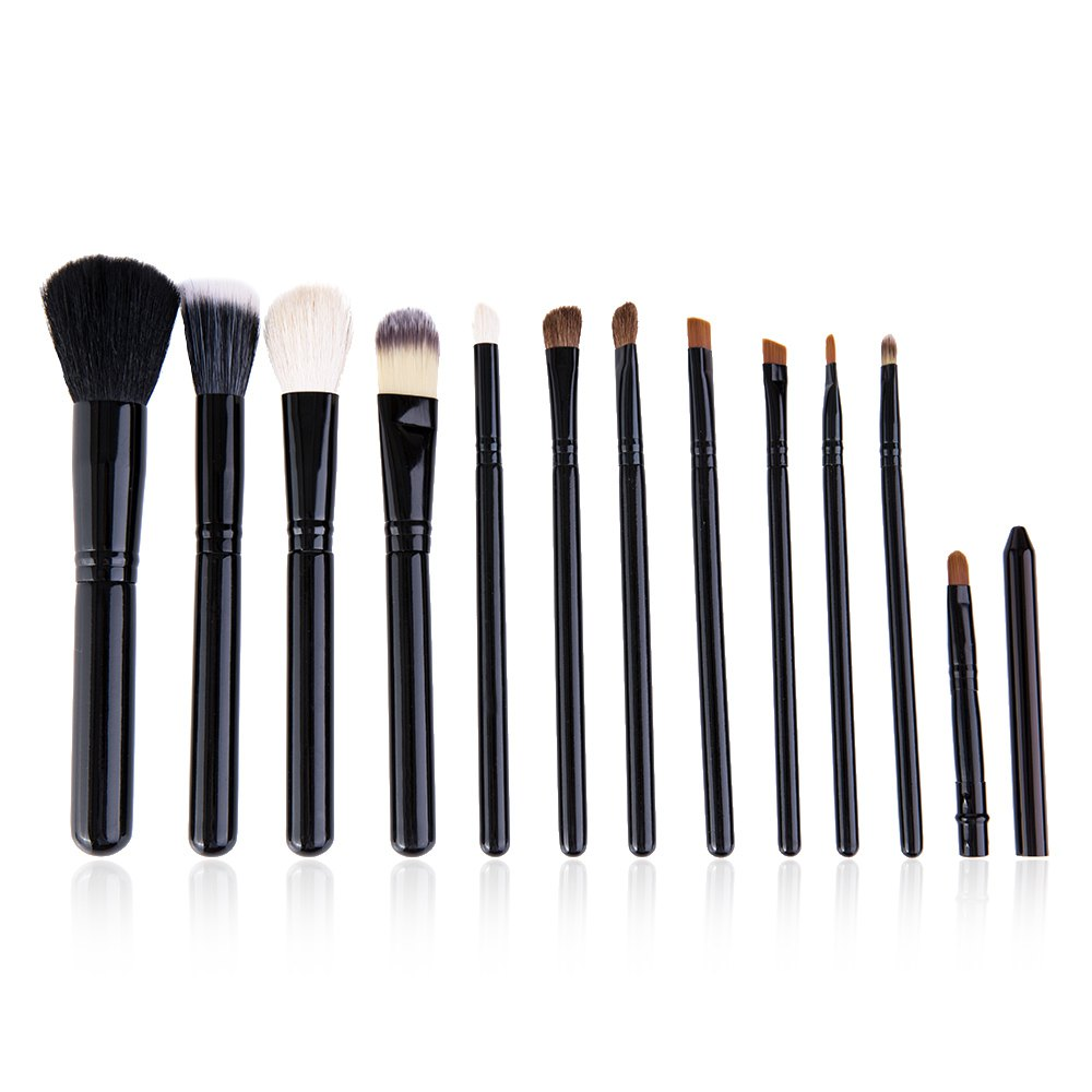 cosqueen 12 Professional Cosmetic Makeup Brush Kit Powder Foundation Barrelled Eyebrow Blush Blending Brushes Set Make Up Tool1 12 18 24pcs make up brush set soft synthetic professional cosmetic makeup foundation powder blush eyeliner brushes kit