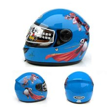 panda children motocross ful face helmet blue motorcycle kids helmets motorbike child MOTO electric bicycle safety headpiece