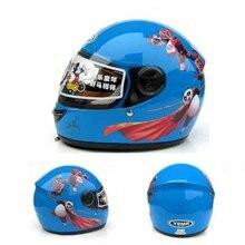 panda children motocross ful face helmet blue motorcycle kids helmets motorbike child MOTO electric bicycle safety headpiece