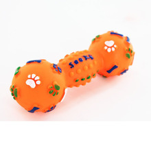 Pet Cat  Popular Toy for Dogs Plastic Bone Dog Toys Dumbbell Interactive Squeeze Squeaky Chew Sound