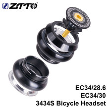 Ztto 3434s mtb bicicleta de estrada, headset 34mm ec34 cnc 1 1/8 28.6 tubo reto garfo interno 34 headset sem fio conveniente