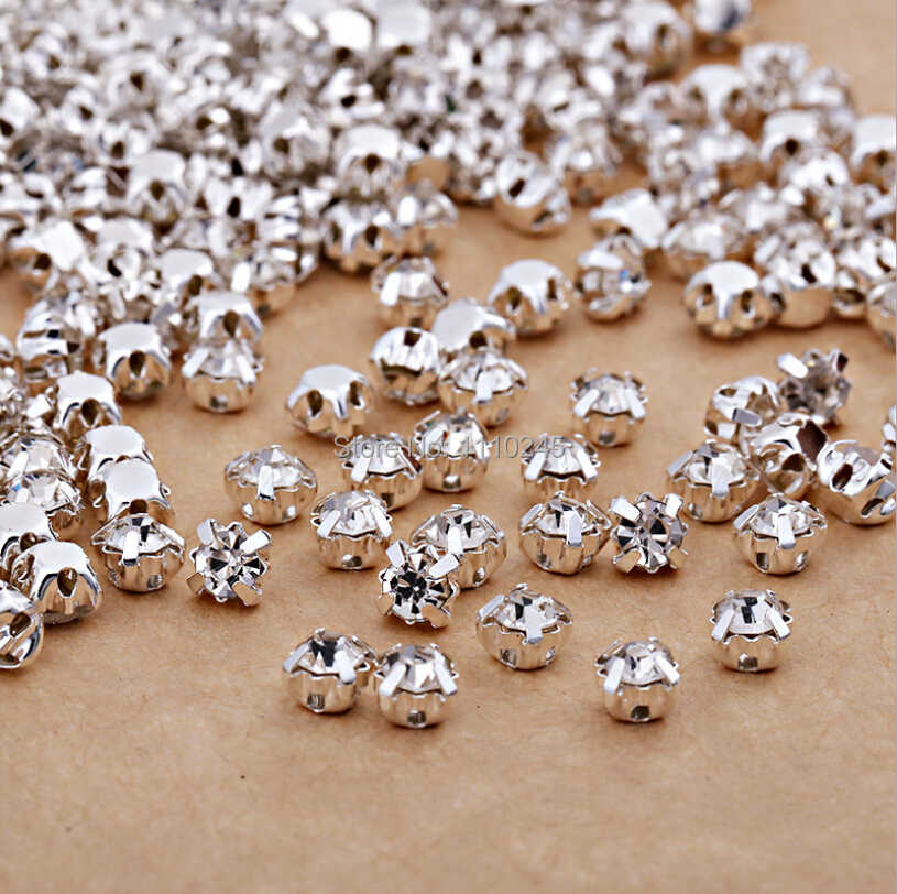 SS16 4.0mm 288pcs lot Silver Plating Crystal Clear Color Rhinestone Beads 47122662a5ec