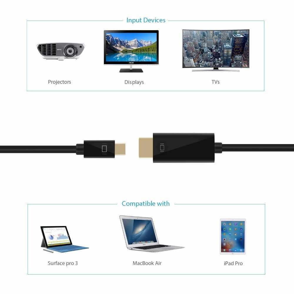 ICZI البسيطة موانئ دبي كابل وصلة بينية مُتعددة الوسائط وعالية الوضوح الصاعقة إلى HDMI الذهب مطلي محول للحاسوب النقال برو الهواء سطح برو محمول العارض كاميرا التلفزيون