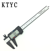 Free shipping 6inch LCD 0-150mm Digital Electronic Carbon Fiber Vernier Caliper Gauge Micrometer