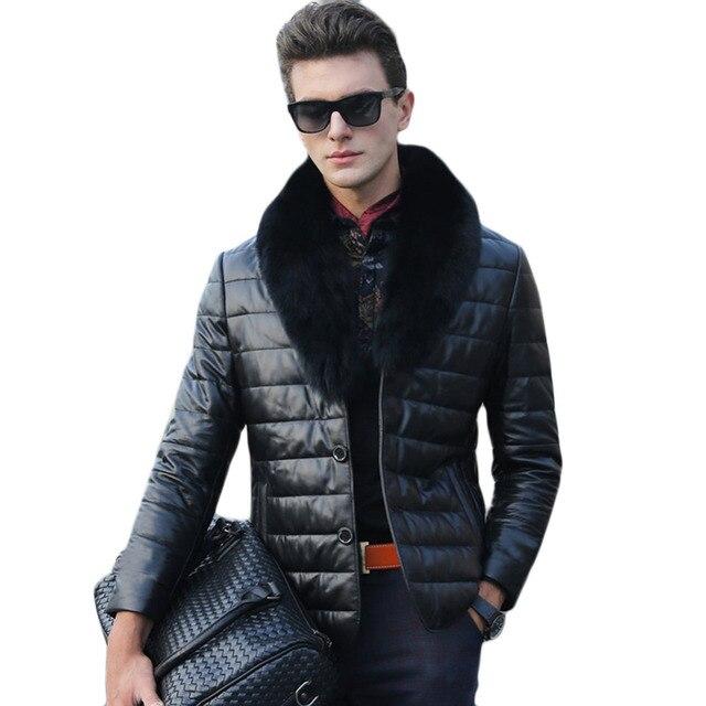 Size S-XXXL Fashion Men's faux fur Jacket 2016 Winter Long Sleeve Fur collar coat Warm Faux Fur outwear for men