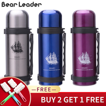 Bear Leader 1000ml Vacuum Flasks Thermos Cup High Quality Stainless Steel Large Capacity Outdoor Travel Portablel Cups