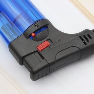 Image 5 - Briquet au gaz Butane, pistolet de pulvérisation Portable, pour barbecue, briquet à tube de cigare coupe vent 1300 C pour lextérieur