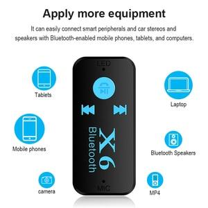 Image 4 - Bluetooth адаптер 3 в 1 беспроводной 4,0 USB Bluetooth приемник 3,5 мм аудиоразъем TF кардридер микрофон Поддержка звонков для автомобильного динамика