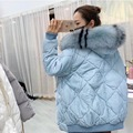 Верхняя одежда для беременных Pleuche куртки воротник из искусственного меха свободный с капюшоном модный Экстра толстый пуховик для беременн...