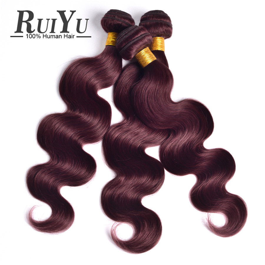 Burgundy Brazilian Body Wave 3pcs Burgundy Brazilian Hair