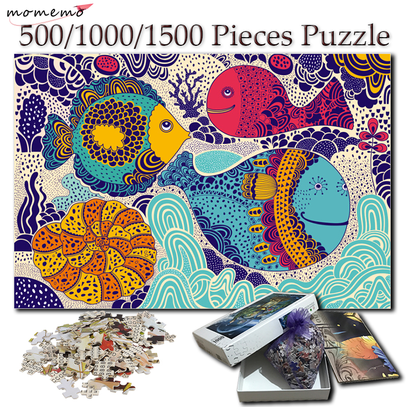 MOMEMO Puzzle 1000 Pieces Colorful Undersea World 500 1000 1500 Pieces Adults Jigsaw Puzzles Creative Hand Painted Puzzle Games