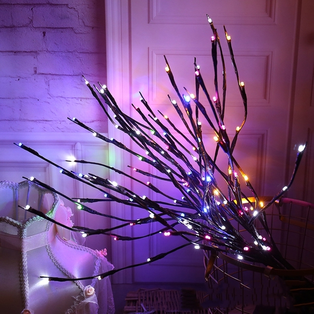 The Light Garden Floral LED Willow Branch Lamp Battery-Operated 20 Bulbs For Home Christmas Party Garden Decoration 6