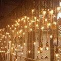 E27 промышленный подвесной светильник с двойной головкой  винтажная лампочка эдисона на веревке  потолочный светильник для дома  ресторана  ...