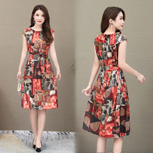 2019 new woman fragrant silk loose dress sleeveless summer fashion floral long Plus Size S-3XL