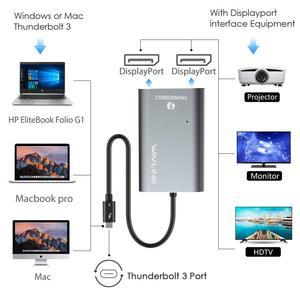 Image 2 - محول Thunderbolt 3 معتمد من إنتل ثنائي المنفذ 8K @ 30hz محول 4K & 5K @ 60Hz نوع C شاشة فيديو الخائن لماك بوك برو