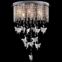 Nodic Style Angel Modern Living Room K9 Ceiling Led Remote Crystal Chandelier Lights 220V 110V E14 For Bed Room Kitchen Lamp