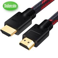 Shuliancable Câble HDMI 4K 60Hz HDMI 2.0 Câble HDR 1 m 5 m tout soutien 4 K/60Hz pour la TVHD ordinateur portable lcd XBOX PS3 1m 2m 3m 5m 7.5m 10m
