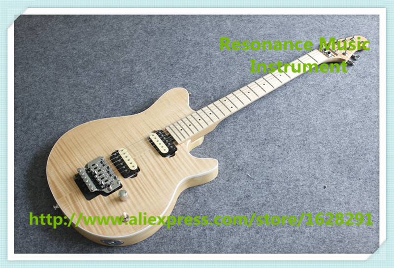 New Arrival Natural Wood Matte Finish Music Man AXIS Electric Guitars With Maple Fingerboard For Sale цена 2017