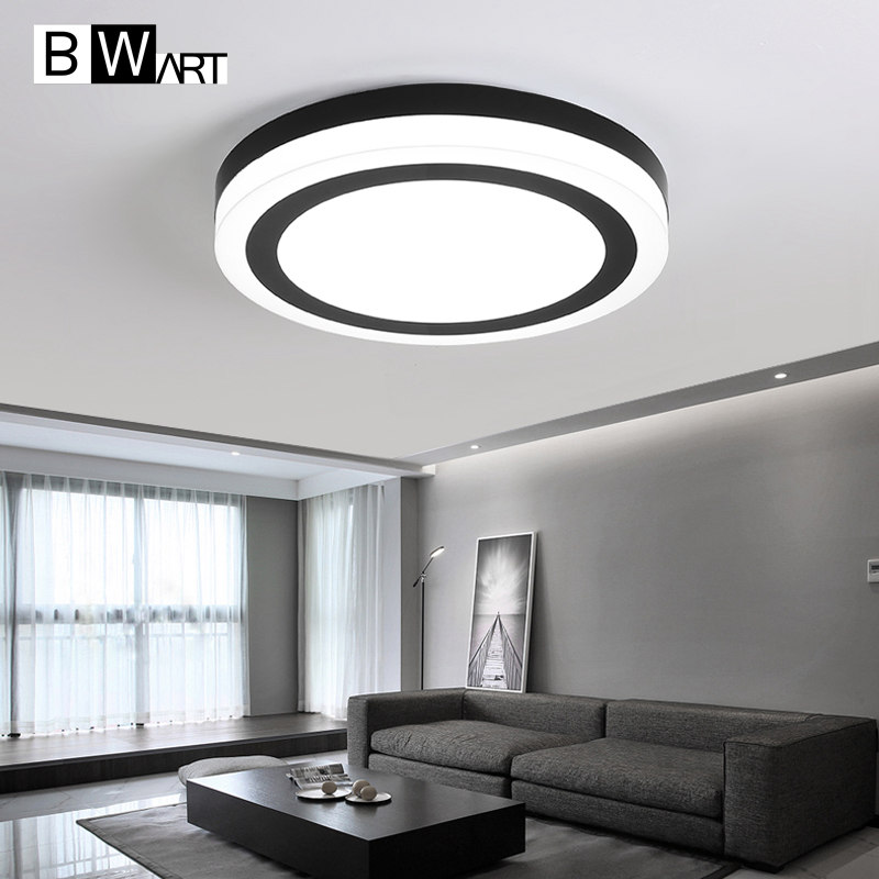 BWART Modern LED Chandelier Bedroom restaurant corridor study dining room lighting Smart Home circle led Chandelier fixture ...