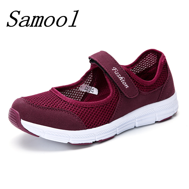 2018 brand mesh breathable Summer shoes women loafers hook loop casual Shoe ultralight mother flats shoes fashion zapatillas jy3 coloring of trees