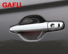 цена на For Mitsubishi Outlander 2013-2017 Chrome Door Side Handles Cover Molding Trim Protectors sticker Car Accessories 8pcs