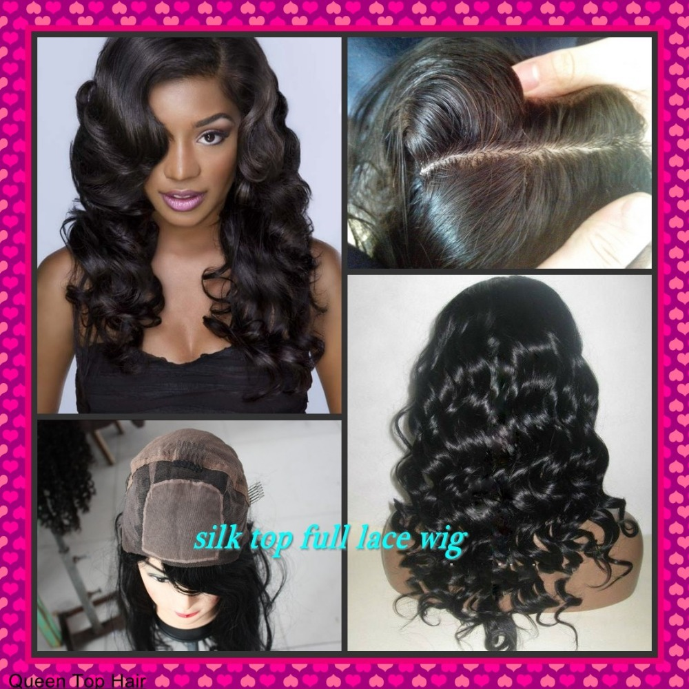 Middle parting 4 4 SIlk top FULL lace wig Front lace wig with baby hair  around Natural skin color nautral hairline c41fe57d47be