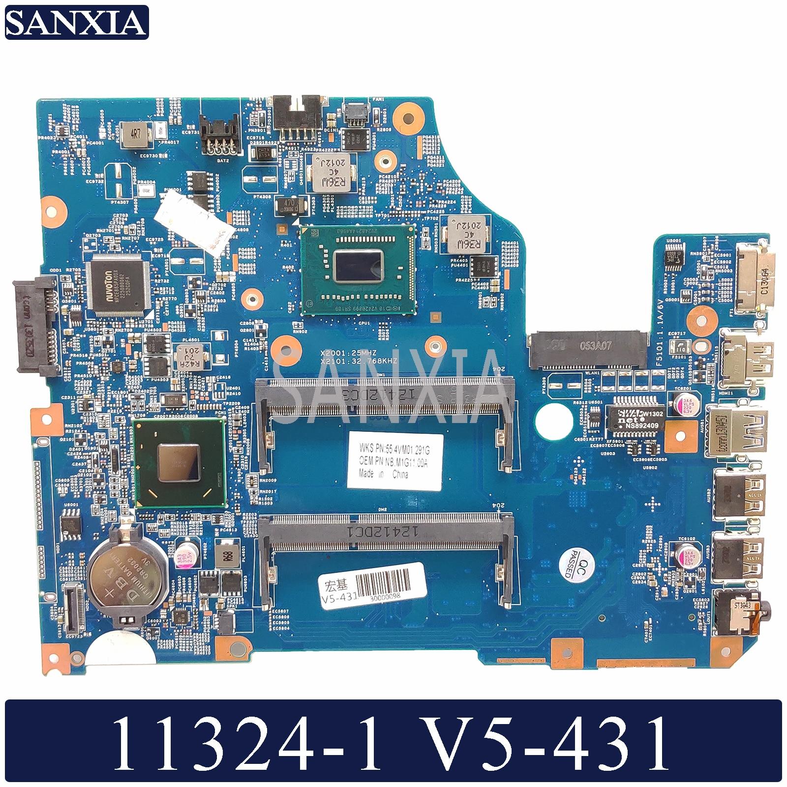 KEFU 11324-1 Laptop motherboard para Acer V5-431 original mainboard
