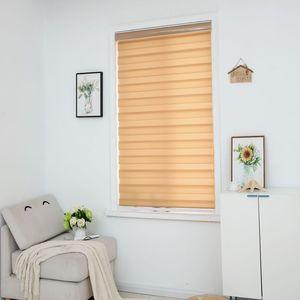 Image 2 - Zebra jaluzi yatay pencere gölgeliği çift katmanlı stor perde pencere özel kesim boyutu haki perdeleri oturma odası için