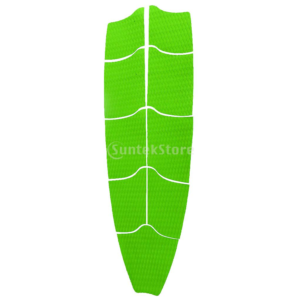 9 Pieces Set EVA Diamond Grooved Surfboard Full Deck Traction Pad Tail Grips Stand Up Paddleboard