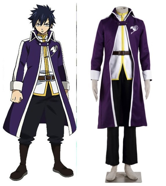 Greatest Fairy Tail Team Fairy Tail Gray Fullbuster outfit costume Cosplay  MT93