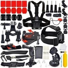 Gopro accesorios 40 en 1 Unidades Familia Kit de Montaje En El Pecho para Gopro hero 4 3 SJCAM SJ5000 Cámara trípode para go pro kit xiaomi yi