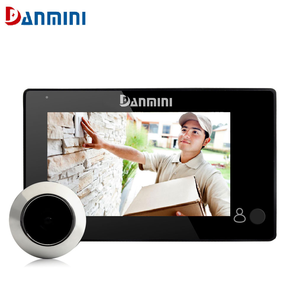 """""""Его damini Новый 4.3"""""""" экран HD ЖК-монитор умный дверной глазок камеры 100 градусов цифровой глазок дверь глаз цветная камера """""""
