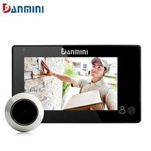 """DAMINI Neue 4,3 """"HD LCD Monitor Smart Türspion Kamera 145 Grad Digitale Peepholeprojektors Tür Auge Farbe Türkamera"""