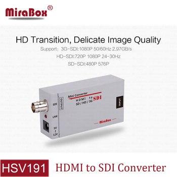 MiraBox HD 1080P 3G HDMI to SDI Converter to BNC Portable Mini Size HDMI to SD-SDI/HD-SDI/3G-SDI Video Converter