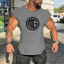 Men's Compression Sleeveless Tight Shirt Fitness Moisture Wicking Workout Vest Muscle Tank Top Solid Cotton Clothing
